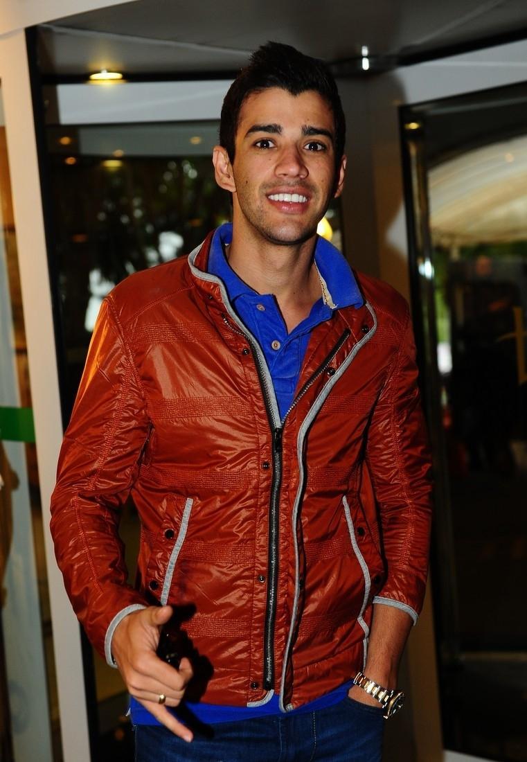 21.out.2013 - O sertanejo Gusttavo Lima participa da Festa Nacional da Música, em Canela (RS)