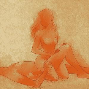 POSIÇÃO 5: o homem se deita de costas e mantém uma perna estendida e a outra flexionada. A mulher se ajoelha ligeiramente de costas para ele, de modo que as pernas dela se encaixem ao redor da perna dele (a que está flexionada). O movimento lento e constante ajuda a mulher a chegar ao orgasmo. Nessa posição, o pênis também consegue alcançar o ponto G feminino, localizado na parede anterior da vagina. - Leh Latte/UOL