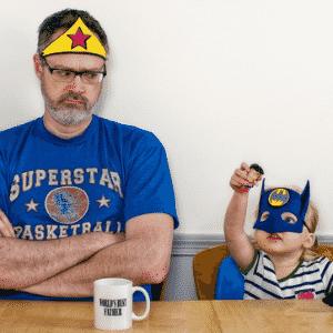 Wonderman and Batgirl - Dave Engledow