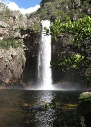 Cachoeira do Fundão na Serra da Canastra, em Minas Gerais