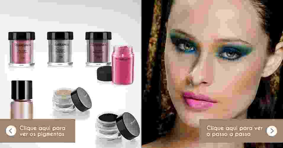 pigmentos ultracoloridos na maquiagem - Divulgação/Cauê Moreno/Adriano Vieira/ArteUOL