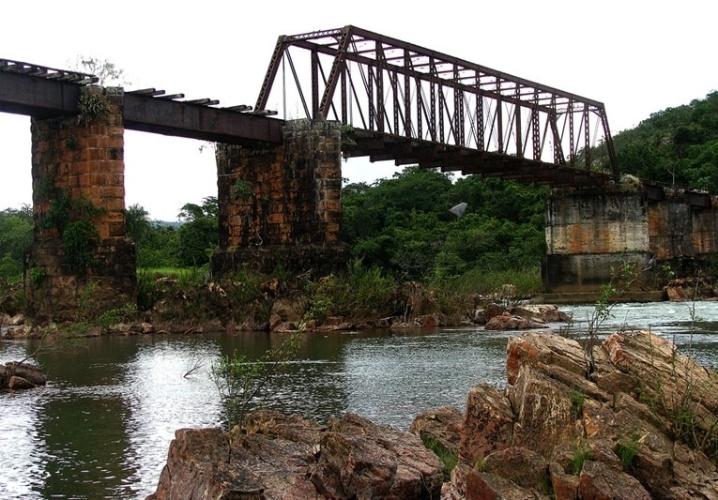 Ponte da Jaguará na Serra da Canastra, em Minas Gerais