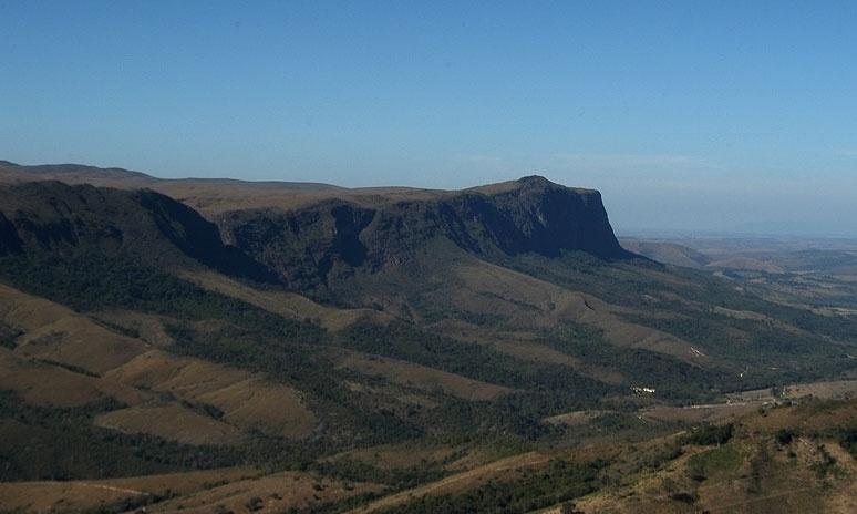 Vista da parte alta da Serra, próxima à nascente do rio São Francisco