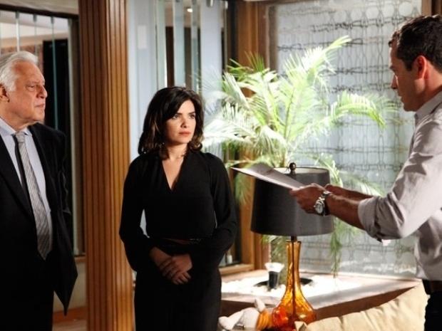 """Em """"Amor à Vida"""", César quase flagra Aline e Bruno juntos"""