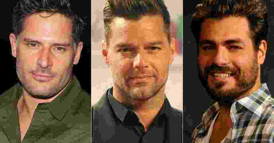 Joe Manganiello, Ricky Martin, Thiago Lacerda - Getty Images/TV Globo