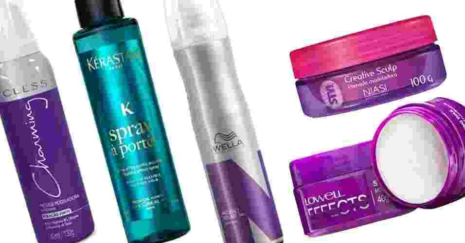 Produtos para amassar os cabelos - Divulgação