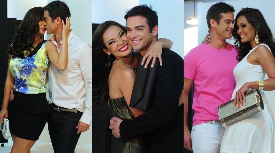 24.out.2013 - Carol Nakamura e Sidney Sampaio fotografaram para a campanha de uma marca de roupas. O ensaio foi realizado em São Paulo. O casal deve subir ao altar em abril de 2014