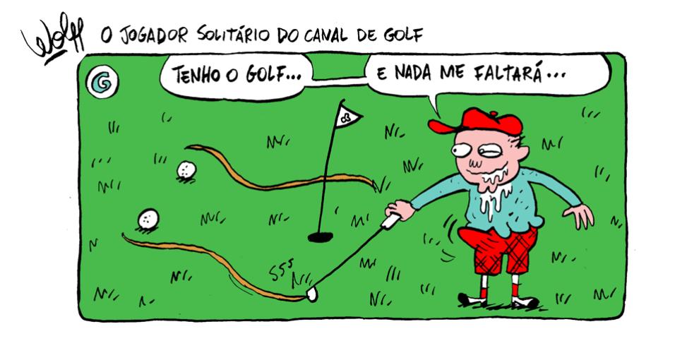 25.out.2013 - O jogador solitário do canal de golfe acredita na modalidade