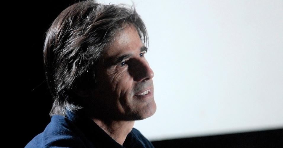 25.out.2013 - O cineasta Walter Salles fala sobre os filmes que o marcaram no projeto Filmes da Minha Vida, no lounge da Mostra de São Paulo