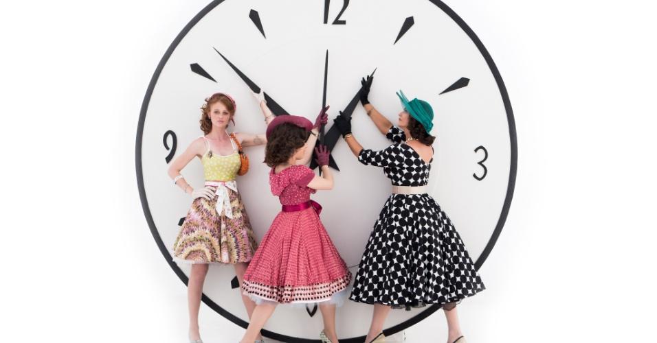 Cintia Dicker, Alessandra Maestrini e Luiza Brunet em 'Correio Feminino', nova série do Fantástico