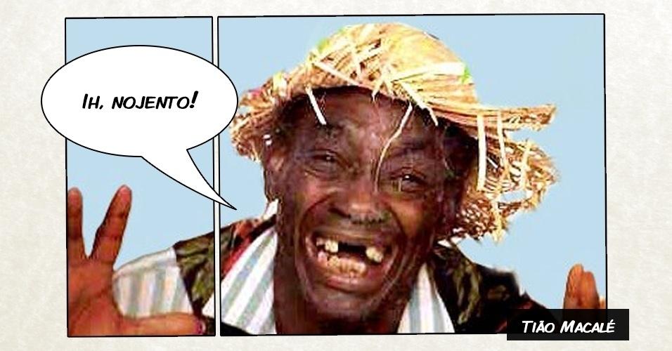 """Há 20 anos morria o comediante Tião Macalé, que trabalhou nos programas """"Balança Mais Não Cai"""" e """"Os Trapalhões"""" e ficou conhecido pelos bordões """"Ih, nojento!"""" e """"Tchan!"""""""