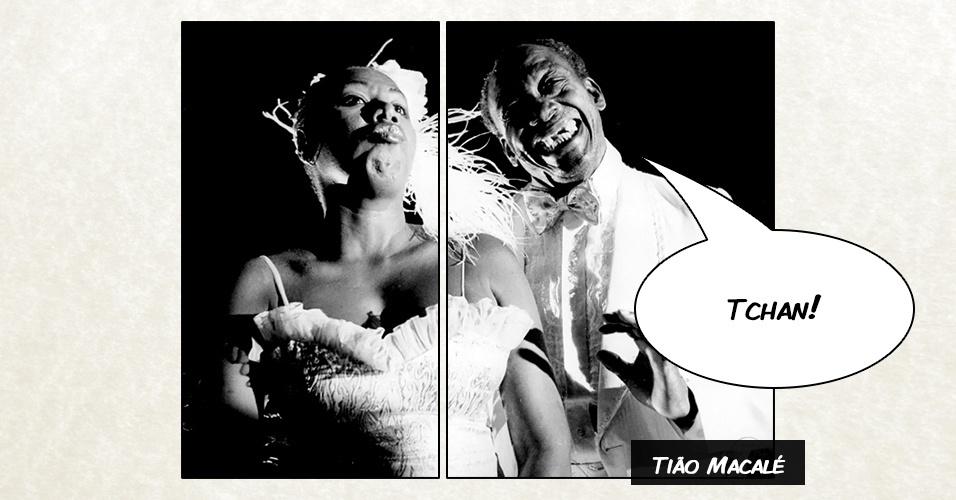 Junto com a atriz Marina Miranda (foto), Tião Macalé protagonizou uma série de comerciais da rede de supermercados Disco