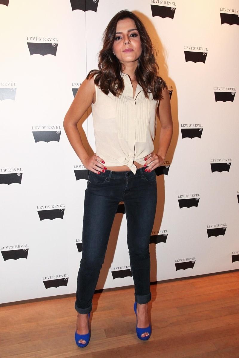 26.out.2013 - Giovanna Lancellotti durante um evento de moda realizado na tarde deste sábado (26), em São Paulo