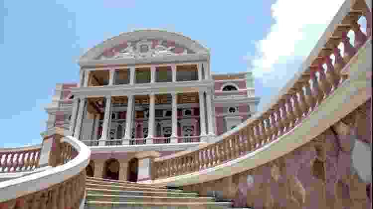 Teatro Amazonas, em Manaus (AM). Construção histórica datada de 1896 foi levantada no auge do Ciclo da Borracha como símbolo de riqueza da capital amazonense e faz parte do roteiro clássico turístico da cidade - Lula Sampaio/UOL - Lula Sampaio/UOL