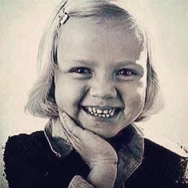 28.out.2013 - Eliana divulgou uma imagem da sua infância com seus seguidores do Instagram.