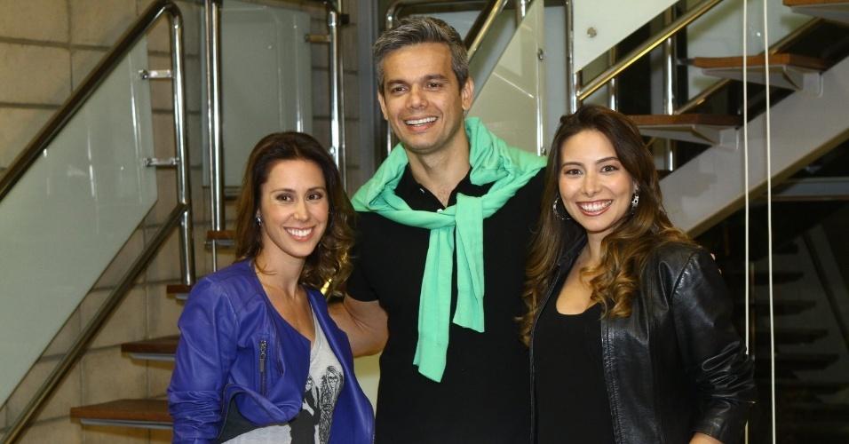 """29.out.2013 - Dani Monteiro, Otaviano Costa e Marcela Monteiro se reuniram com a imprensa para o lançamento do novo """"Vídeo Show"""" que irá ao ar a partir de 18 de novembro"""