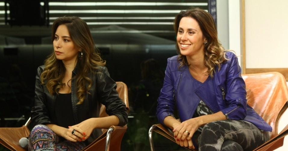 """29.out.2013 - Marcela Monteiro e Dani Monteiro se reuniram com a imprensa para o lançamento do novo """"Vídeo Show"""" que irá ao ar a partir de 18 de novembro"""