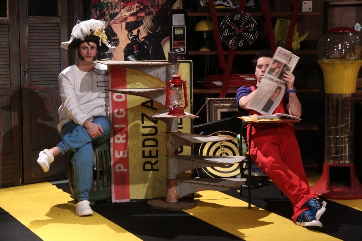 29.out.2013 ? Escrito por Rosana Hermann e Antonio Guerreiro, o especial de fim de ano da Record foi gravado nesta terça-feira nos estúdios da emissora.