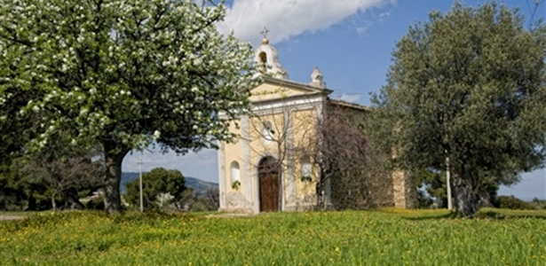 A capela da Madonna del Carmine, em Montegiordano, na região italiana da Calábria - Reprodução/Comune di Montegiordano