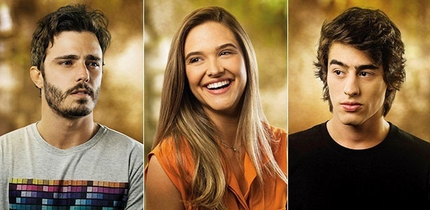 Thiago Rodrigues, Juliana Paiva e Vinicius Tardio são William, Lili e Rafa, respectivamente