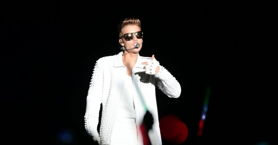 3.nov.2013 -  O cantor pop canadense Justin Bieber se apresenta na Apoteose, no Rio de Janeiro
