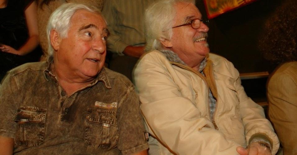 12.out.2006 - O ator Luis Gustavo na comemoração dos 70 anos de vida e 48 de carreira de Rolando Boldrin, na TV Cultura