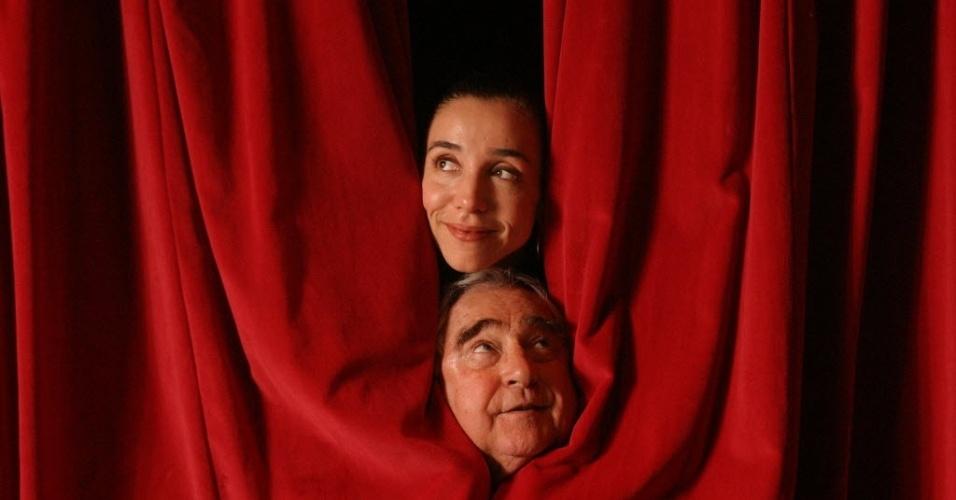 "20.jun.2005 - Os atores Marisa Orth e Luís Gustavo que estreiam a peça de teatro ""Misery"""