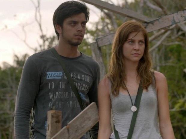 """Em """"Além do Horizonte"""", Marlon e Paulinha fazem viagem juntos"""