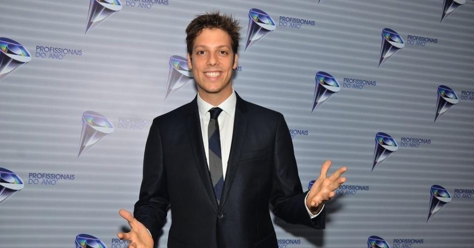 5.nov.2013 - Fábio Porchat marca presença no 35ª edição do prêmio Profissionais do Ano, realizado pela Globo