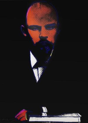 """Reprodução da serigrafia """"Lenin"""" (1987), de Andy Warhol, que não conseguiu comprador em leilão realizado em Londres - Bonhams Auction Hous/EFE"""