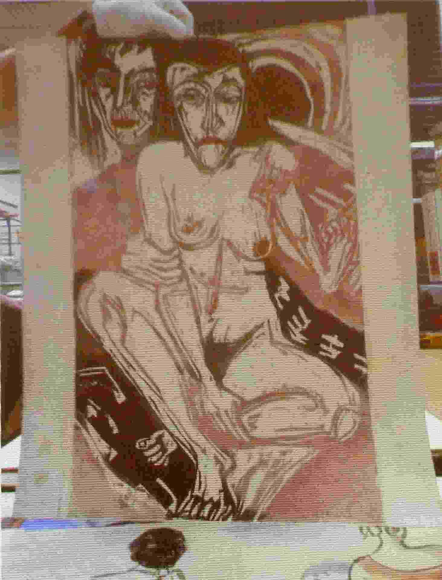 """5.nov.2013- Ludwig Kirchner, """"Menina Melancólica"""". Obras roubadas por nazistas - Reuters"""