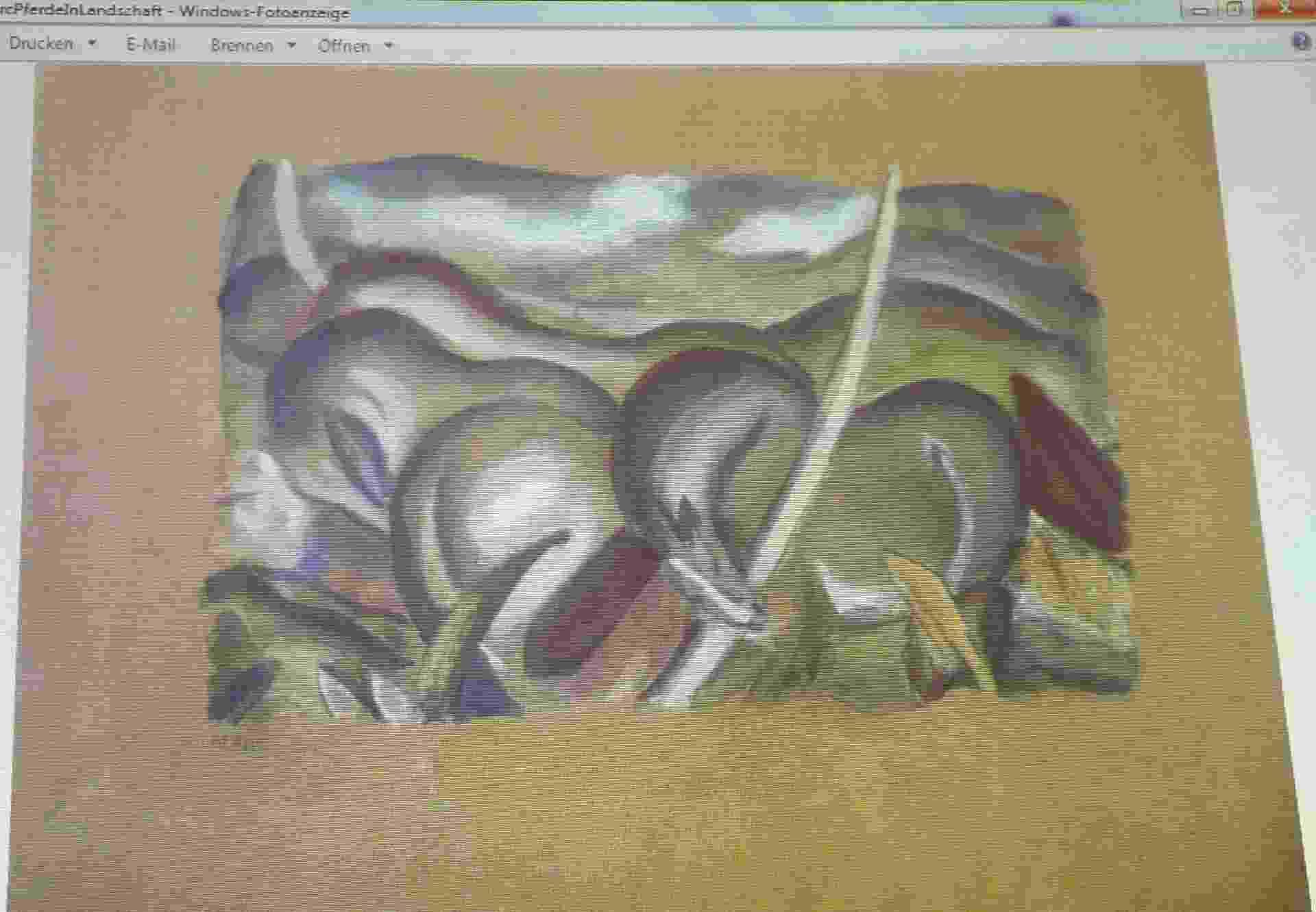 "5.nov.2013- Franz Marc, ""Pferde in Landschaft"". Pinturas roubadas por nazistas. - Reuters"
