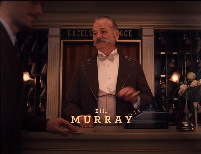 """05.nov.2013 -  Bill Murray em """"O Grande Hotel Budapeste"""", novo filme de Wes Anderson gravado na Alemanha"""