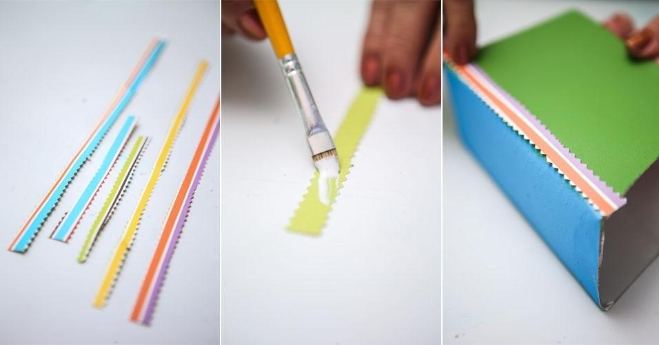 Adesivo Va De Bike ~ Veja como fazer um aparador para os livros infantis com embalagem de leite BOL Fotos BOL Fotos