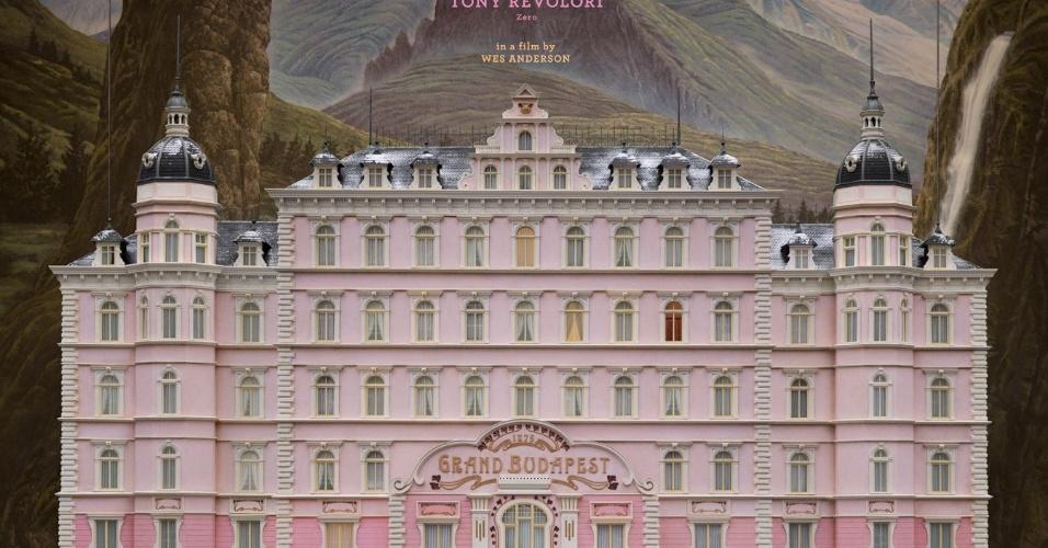 """05.nov.2013 -  Pôster de """"O Grande Hotel Budapeste"""", filme de Wes Anderson, estreia em circuito comercial em 2014"""