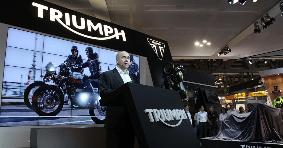 Simon Wardurton, diretor de comunicação da Triumph