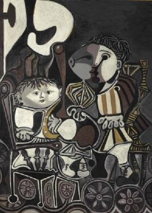 """""""Claude e Paloma"""", de Pablo Picasso, é arrematada por US$ 28,1 milhões e, Nova York - Reprodução"""