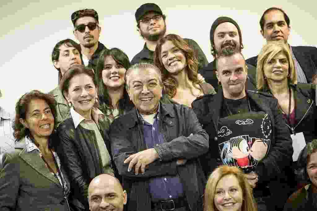 07.nov.2013 - Maurício de Sousa e artistas lançam Mônica Parade 2013 na sede da Maurício de Sousa Produções, em São Paulo - Rodrigo Capote/UOL