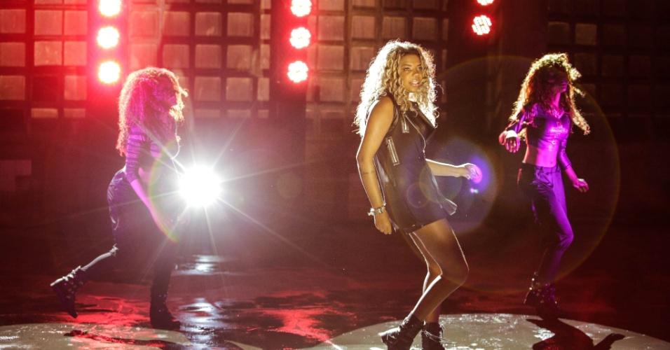 """6.nov.2013 - Deixando de lado o nome MC Beyoncé, MC Ludmilla gravou o clipe da música """"Sem Querer"""" com a produção de Bruno Murtinho"""