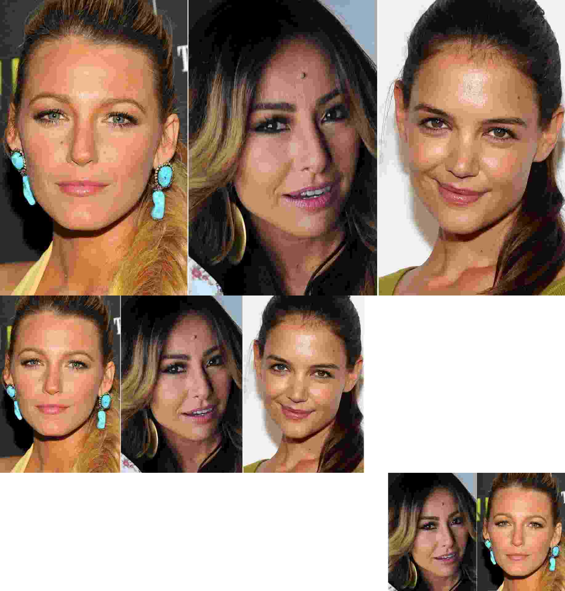 Blake Lively, Sabrina Sato, Katie Holmes - Getty Images/AGNews/MontagemUOL