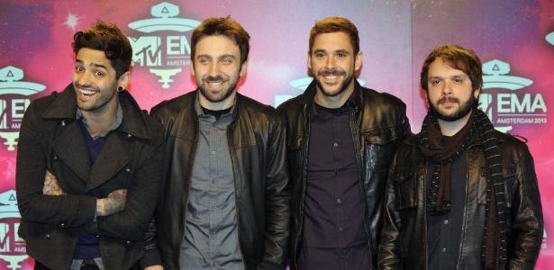 A banda de Porto Alegre Fresno, que foi indicada na artista melhor artista global do EMA - John Thys/AFP