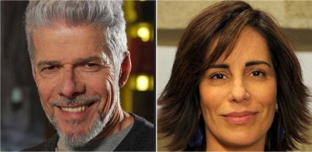 Os atores José Mayer e Gloria Pires