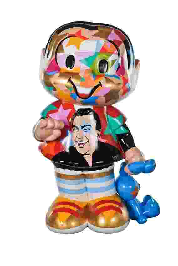12.nov.2013 - Estátuas da Mônica Parade, em 50 anos da personagem de Maurício de Sousa, sofrem depredação em SP. Uma delas foi furtada. - Divulgação