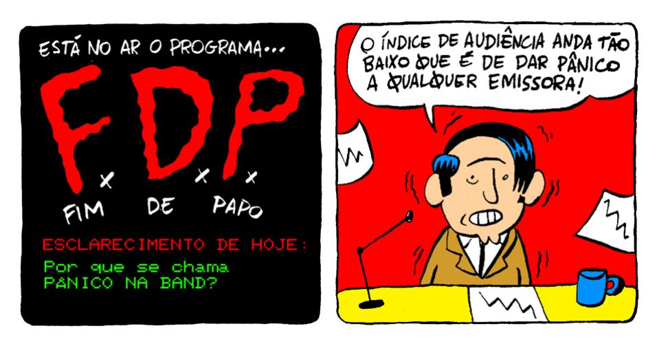 """13.nov.2013 - Programa Fim de Papo esclarece por que se chama """"Pânico na Band"""""""