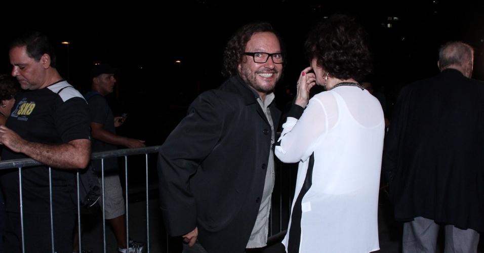 12.nov.2013 - O diretor Wolf Maya prestigiou a 15ª edição do Prêmio Extra de Televisão. O evento aconteceu em uma casa de shows do Rio