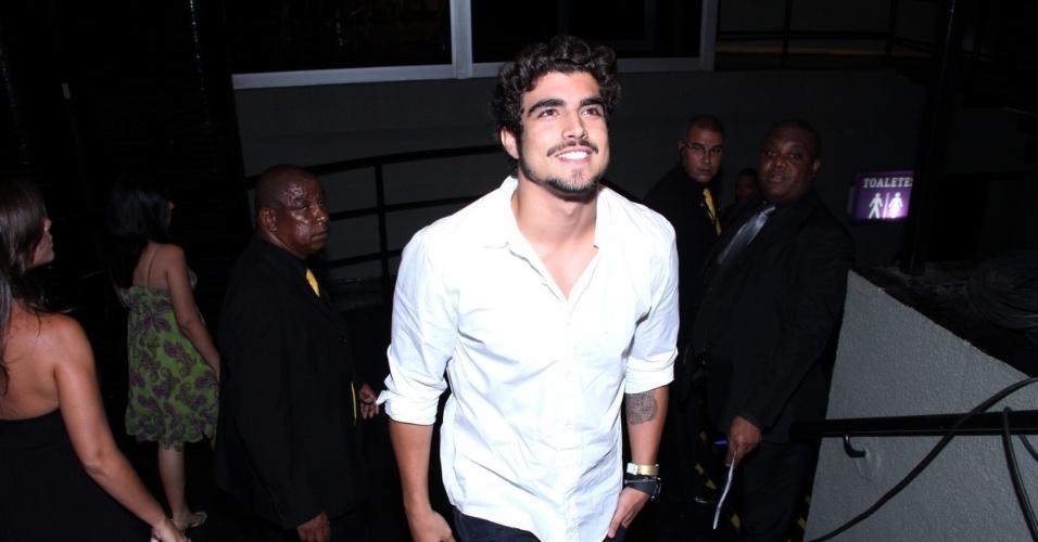 12.nov.2013 -Caio Castro na 15ª edição do Prêmio Extra de Televisão. O evento aconteceu em uma casa de shows do Rio