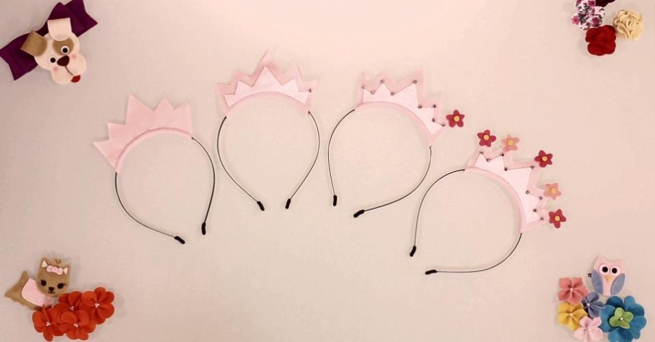 imagem para destacar o vídeo de UOL Mulher sobre como fazer uma tiara coroa de feltro