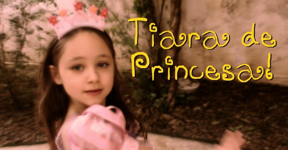 imagem para destacar vídeo de UOL Mulher com passo a passo de tiara de princesa