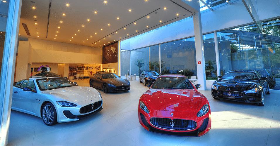 Loja da Maserati em São Paulo - Divulgação