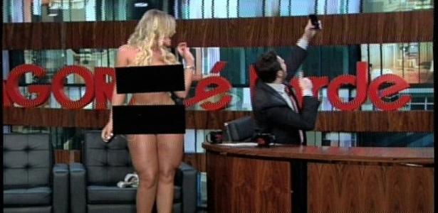 """Andressa Urach supostamente fica nua no """"Agora é Tarde"""""""